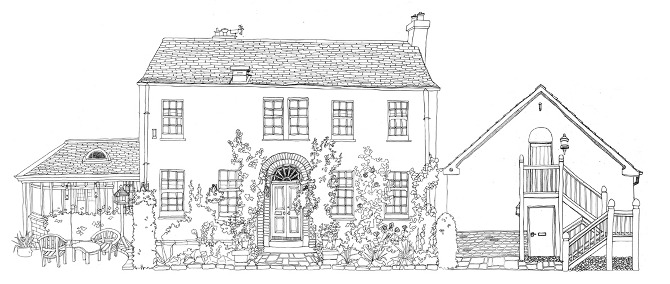Black white houses doodle my house for Black and white houses