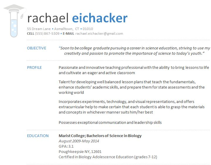resume designs dr eyehacker - Resume Header Example