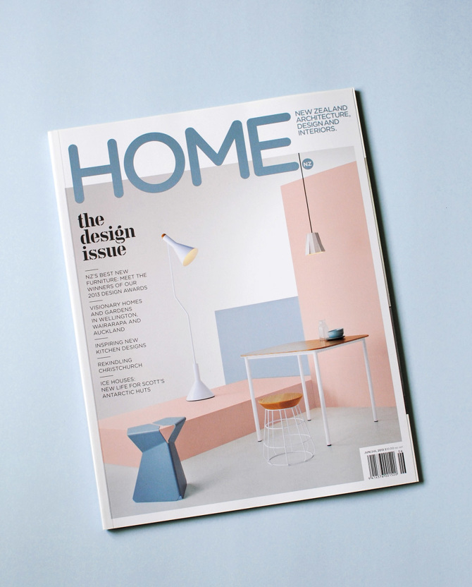 Home magazine cover styling - Juliette Wanty